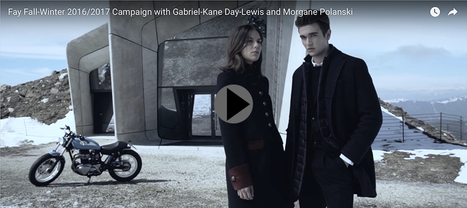 Fay Fall-Winter 2016/2017 Campaign with Gabriel-Kane Day-Lewis and Morgane Polanski